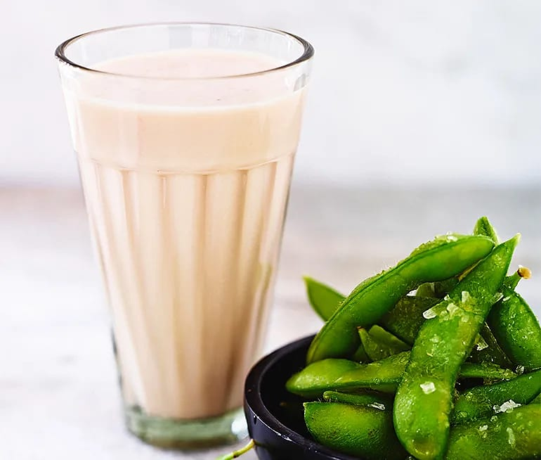Proteindrink- Smoothie med smak av jordgubbar och gurka