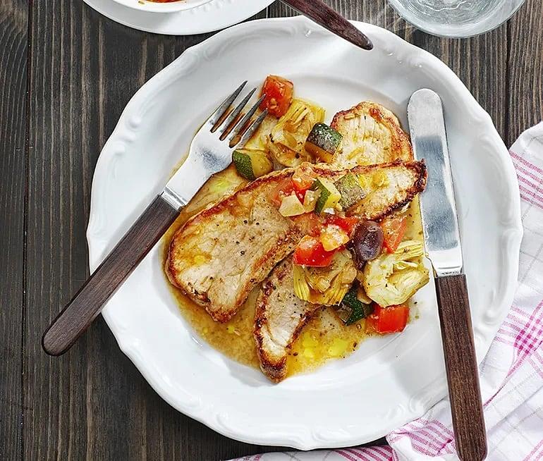 Schnitzel provençale