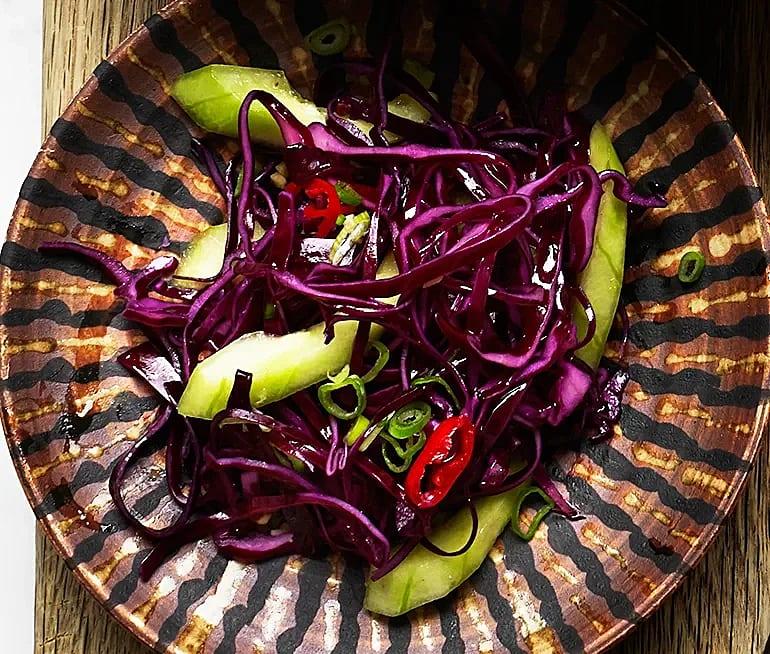 Sweet kimchi på rödkål
