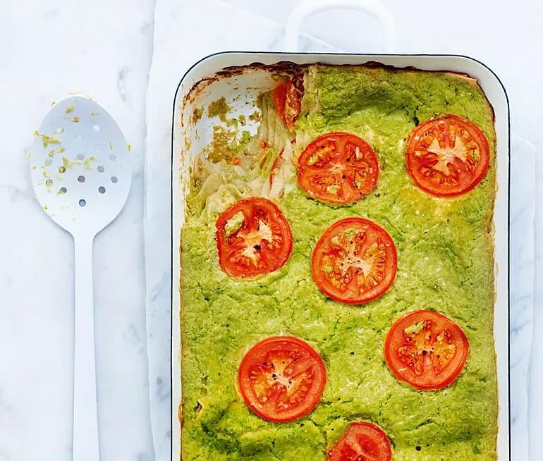 Ärtlasagne med tomater och ricotta