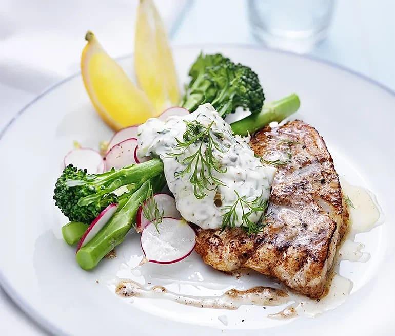 Stekt torsk med tartarsås och bellaverde