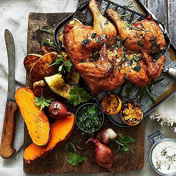 Allt i grillen-kyckling med grönt