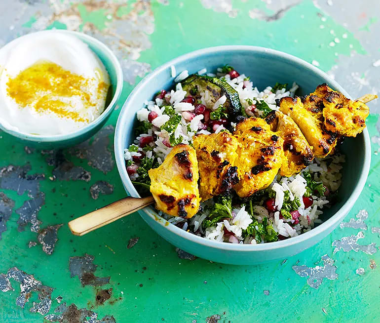 Persisk kyckling med zucchiniris