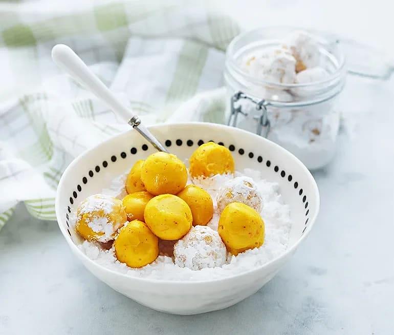 Saffranstryffel med apelsin