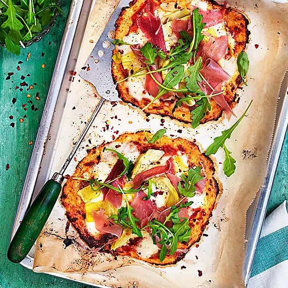 Italiensk blomkålspizza