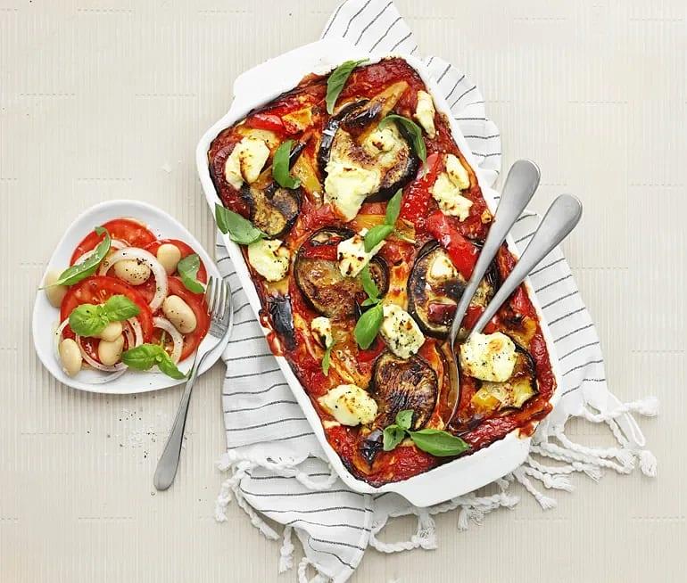 Lasagne med aubergine och ricotta
