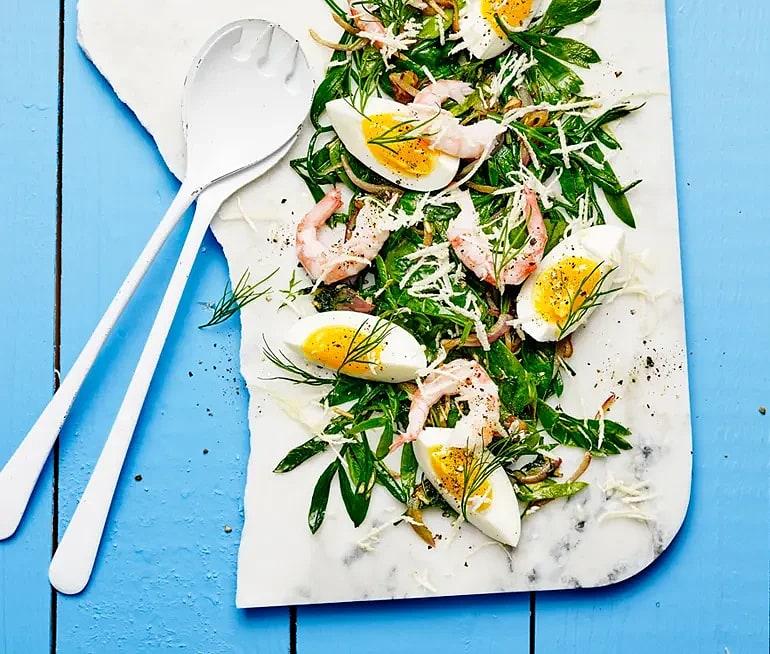 Fräs med havsgrönsaker, brynt smör, dill och pepparrot