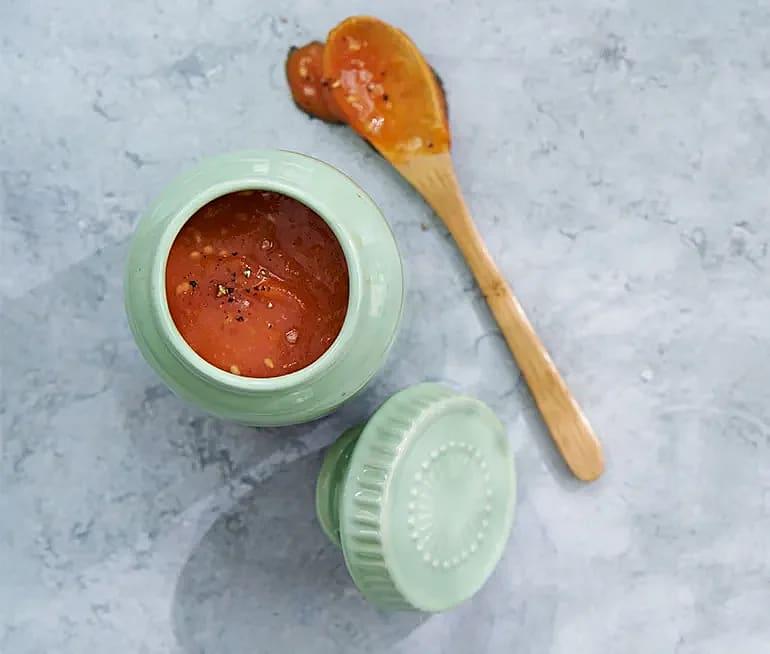 Sesam- och mangoketchup