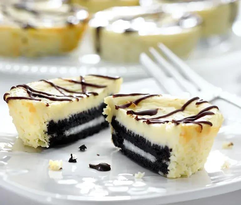 Minicheesecake med Oreokex