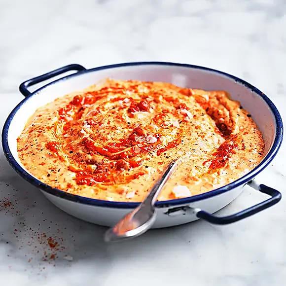 Paprika- och manchegocrème