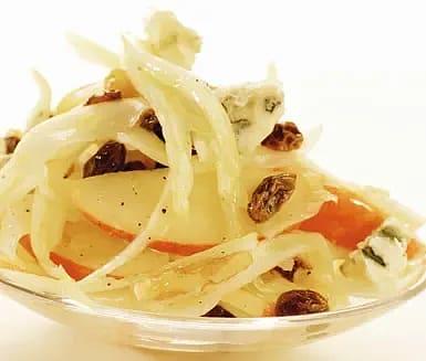 Äppel- och gorgonzolasallad
