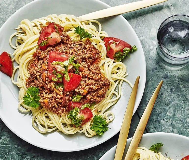 Köttfärssås med spaghetti