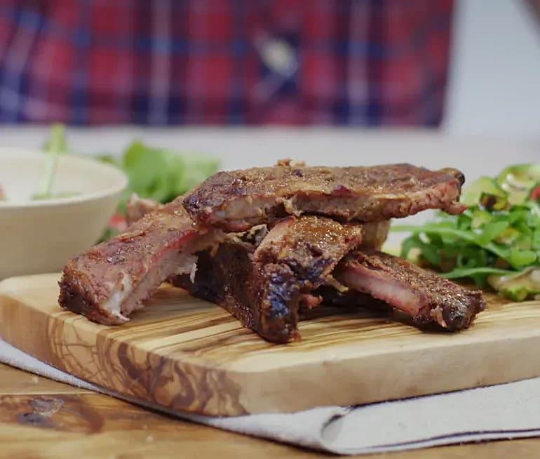Grillrökta BBQ-ribs