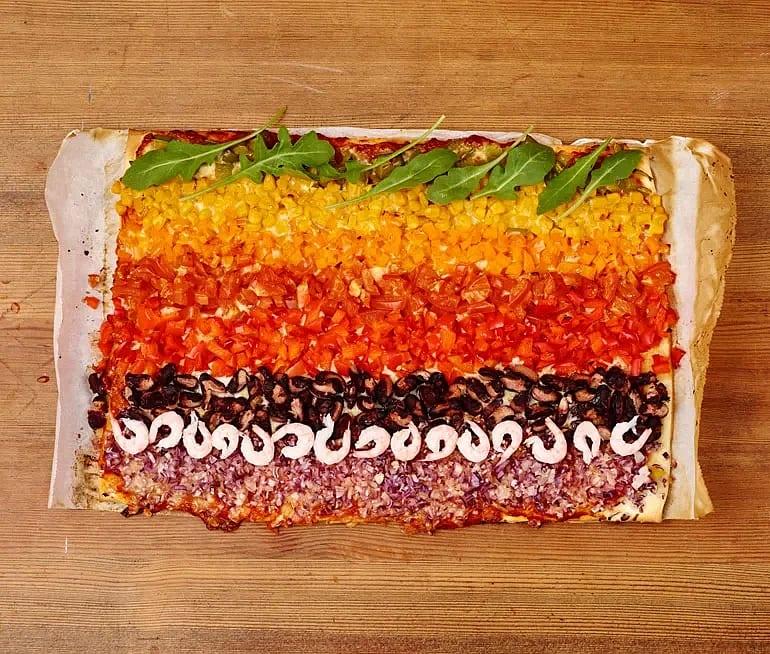 Regnbågspizza