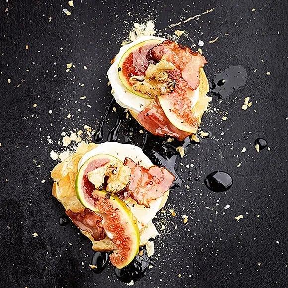 Baguette med getost och fikon