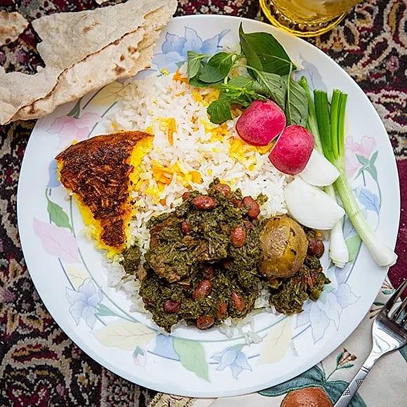 Ghorme sabzi - Lamm- och spenatgryta