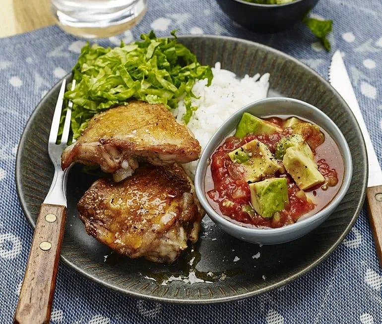Rostad kyckling med avokadosalsa