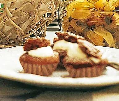 Små fyllda chokladmuffins