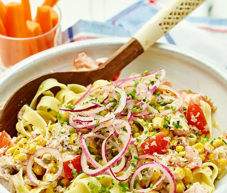 Hot tuna pasta