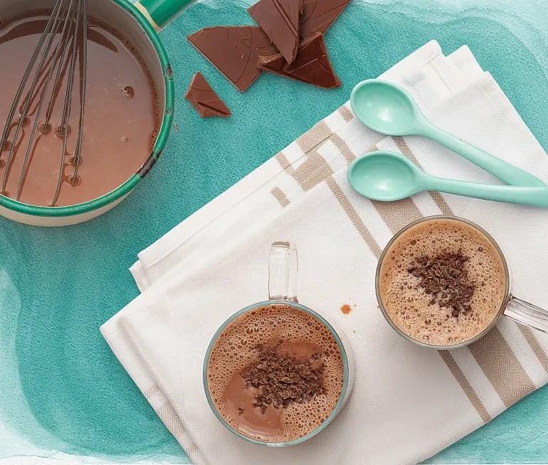 Varm choklad med havredryck