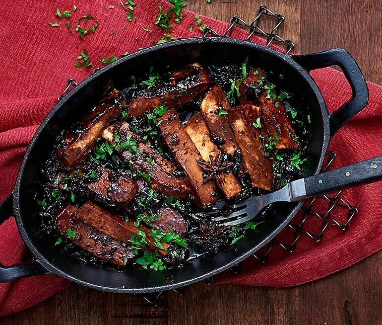 Veganska revbensspjäll av tofu