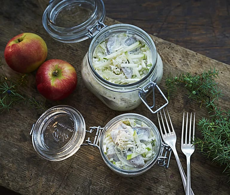 Äppelsill med fänkål och ingefära