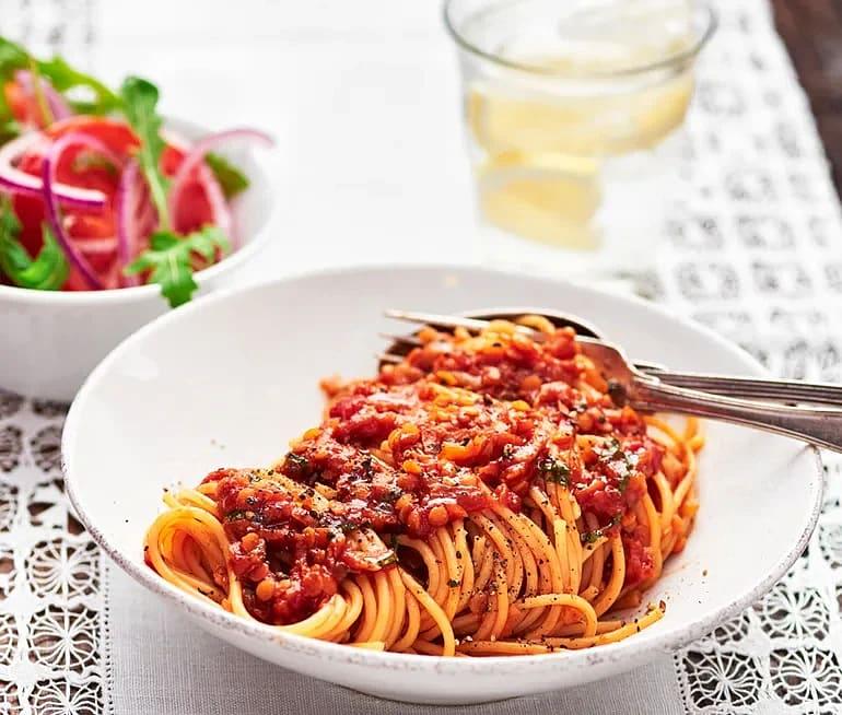 Spagetti med linsbolognese