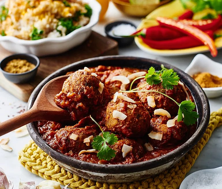 Quinoabollar med tikka masalasås
