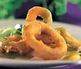Friterad bläckfisk med limesås