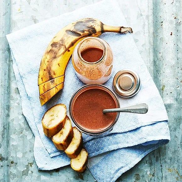 Banan- och chokladsmoothie