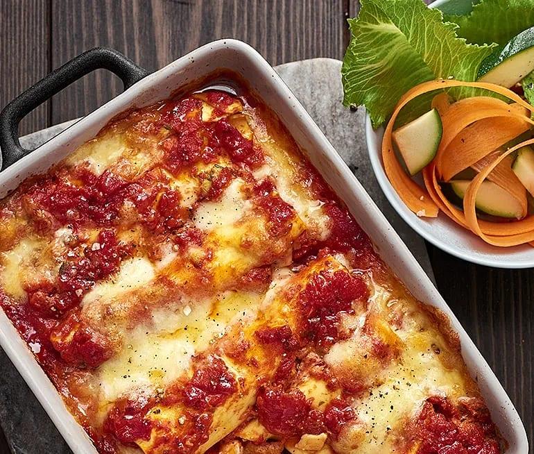 Cannelloni med zucchini och linser