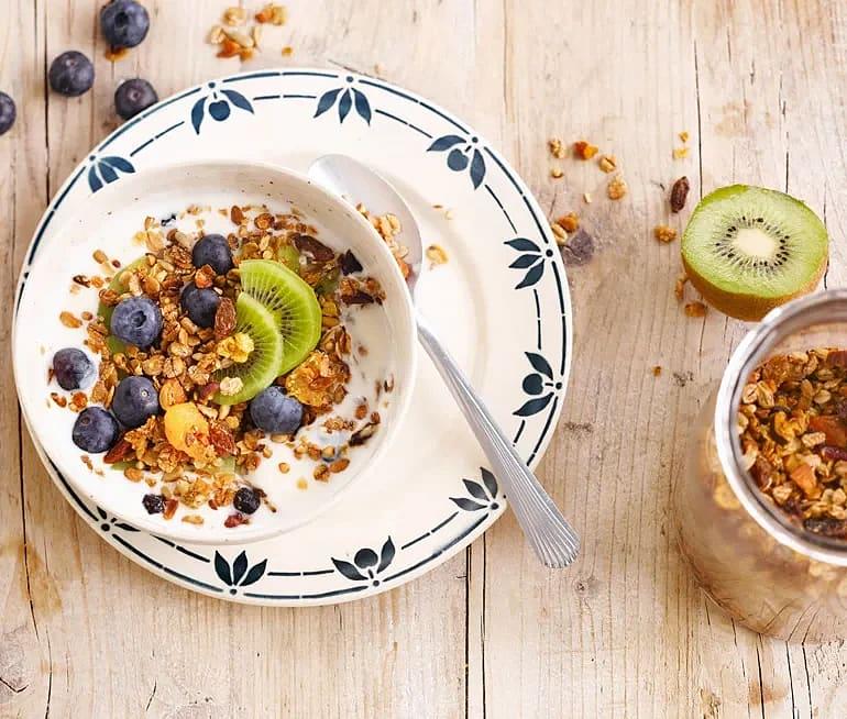 Granola med honung och kokosolja