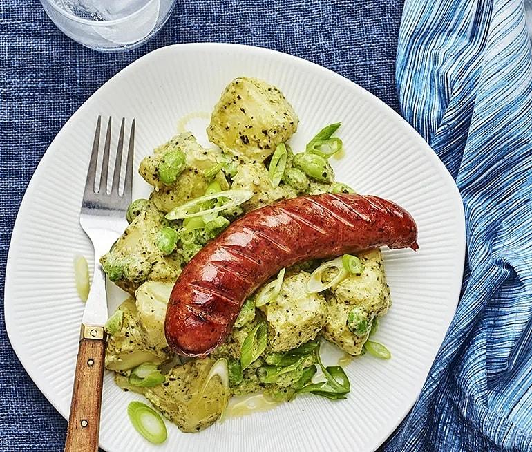 Salsiccia med potatissallad