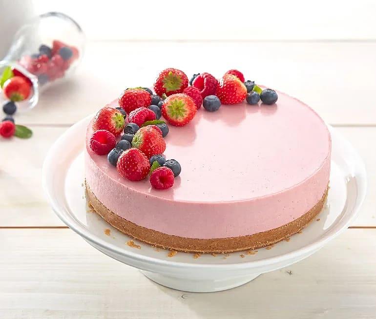 Jordgubbscheesecake med rabarber