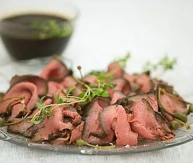 Rostbiff i marinad med färska örter
