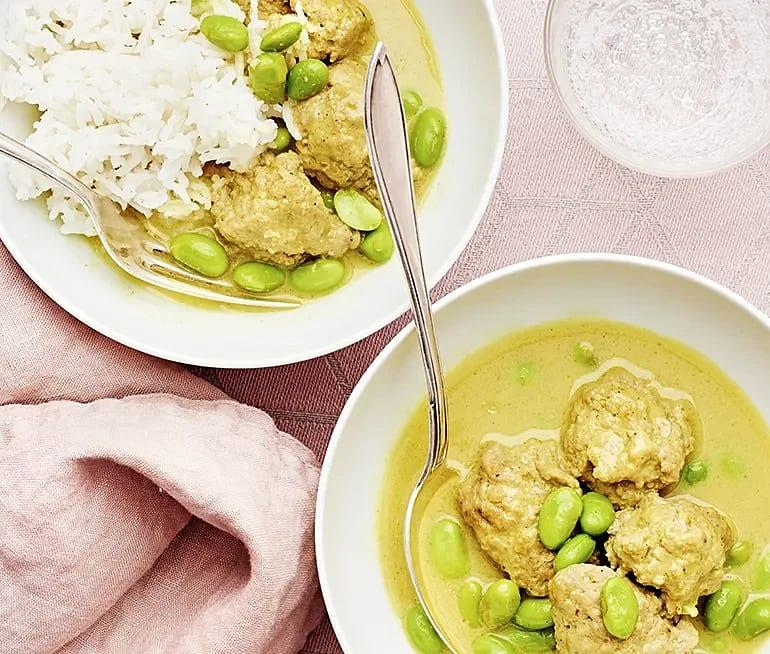Fläskfärs i gul curry