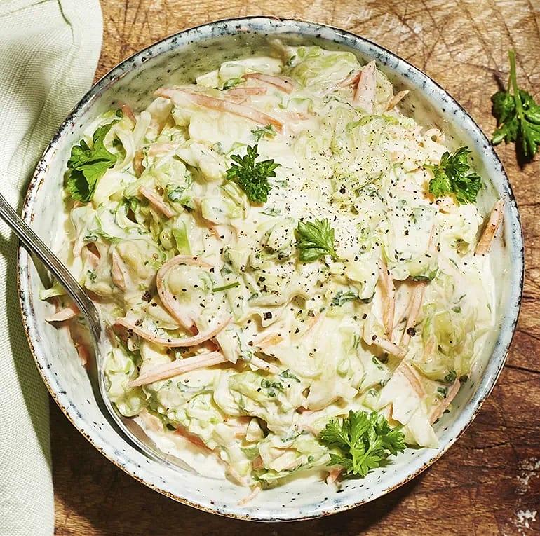 Nyttigare coleslaw med kvarg