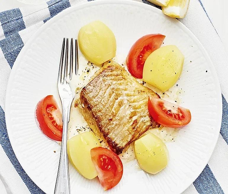 Stekt fisk med citronsås