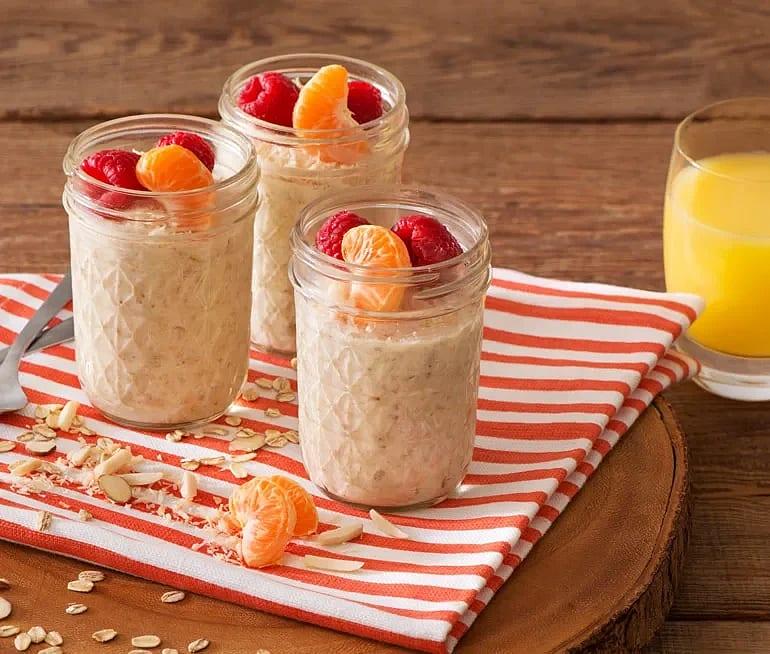 Overnight oats - gröt med apelsin och kokos