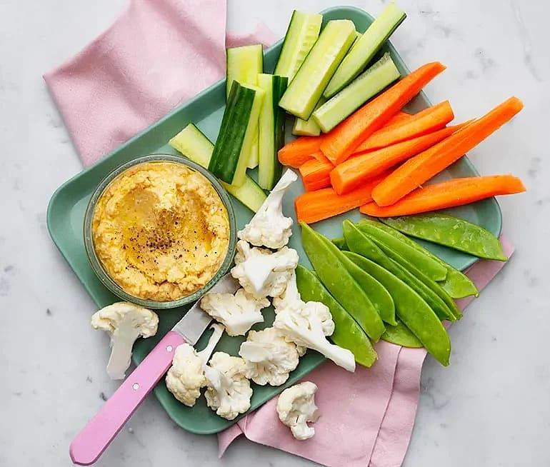 Hummus med grönsaker