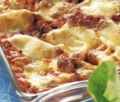 Kycklinglasagne med tomat och mozzarella