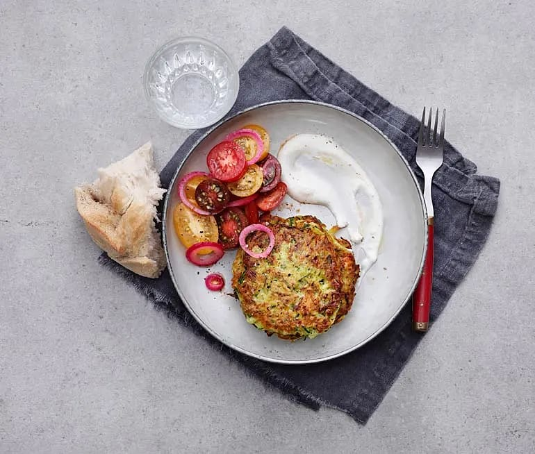 Zucchinifritters med fetaost