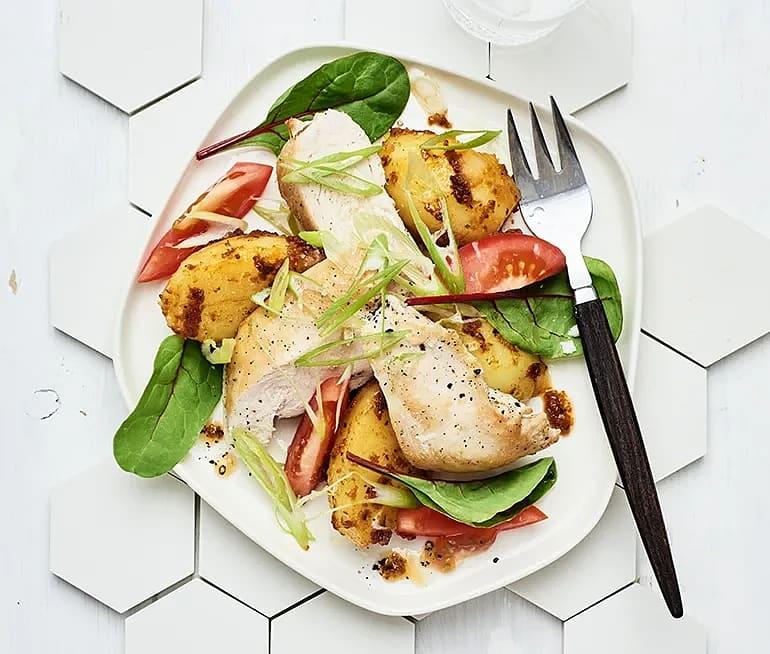 Kyckling med ljummen potatissallad