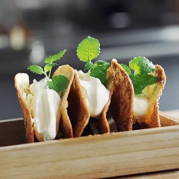 Äppelpaj taco