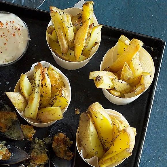 Pommes frites i ugn