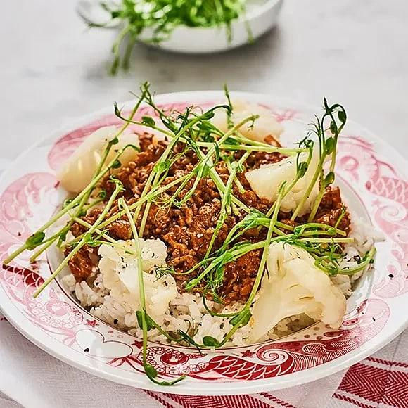 Tikka masala med ris och blomkål