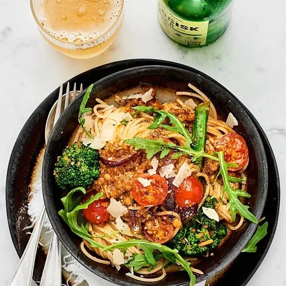 Pasta arrabbiata med bellaverde
