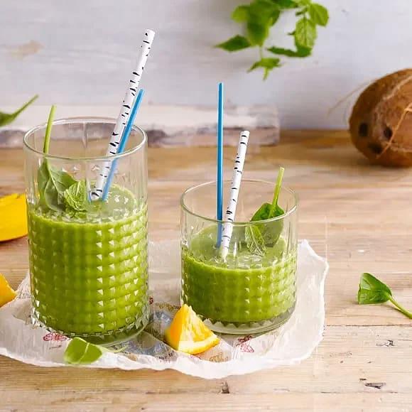 Grön kokossmoothie