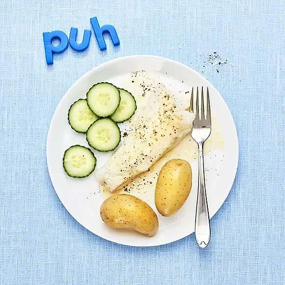 Fiskgratäng och potatis