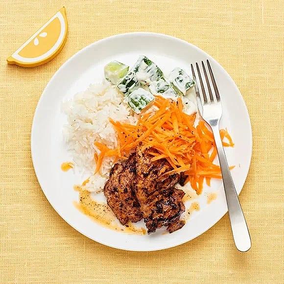 Kyckling tandoori med gurkröra